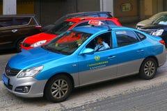 Στο κέντρο της πόλης σκηνή κυκλοφορίας, guangzhou, Κίνα Στοκ εικόνα με δικαίωμα ελεύθερης χρήσης