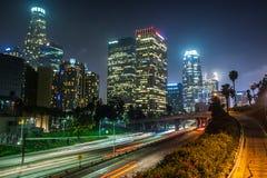 στο κέντρο της πόλης Los νύχτα &ta στοκ φωτογραφίες με δικαίωμα ελεύθερης χρήσης