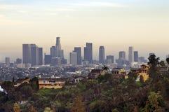 στο κέντρο της πόλης Los όψη της Angeles Στοκ Εικόνες