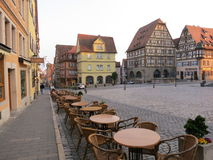 Στο κέντρο της πόλης Rothenburg ob der Tauber Στοκ Εικόνες