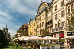 Στο κέντρο της πόλης άποψη του ιστορικού κέντρου της πόλης Timisoara Στοκ φωτογραφία με δικαίωμα ελεύθερης χρήσης