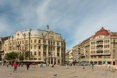Στο κέντρο της πόλης άποψη του ιστορικού κέντρου της πόλης Timisoara Στοκ Φωτογραφίες