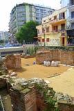 Στο κέντρο της πόλης ανασκαφή Ελλάδα Θεσσαλονίκης Στοκ φωτογραφία με δικαίωμα ελεύθερης χρήσης