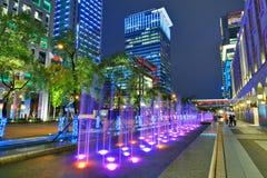 Στο κέντρο της πόλης εικονική παράσταση πόλης της Ταϊπέι Στοκ Εικόνα
