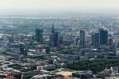 Στο κέντρο της πόλης εναέρια άποψη της Βαρσοβίας Στοκ Εικόνα