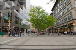 Στο κέντρο της πόλης λεωφόρος οδών του Ντένβερ 16η Στοκ εικόνες με δικαίωμα ελεύθερης χρήσης