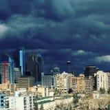 Στο κέντρο της πόλης θύελλα του Κάλγκαρι Στοκ Εικόνα