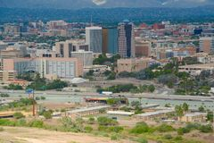 Στο κέντρο της πόλης κινηματογράφηση σε πρώτο πλάνο του Tucson Στοκ φωτογραφία με δικαίωμα ελεύθερης χρήσης