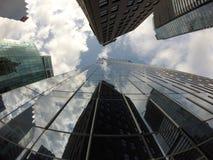 Στο κέντρο της πόλης κτήρια Βανκούβερ Κτήρια γυαλιού στοκ φωτογραφία