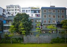 Στο κέντρο της πόλης κτήρια της Κίνας Στοκ Φωτογραφία