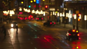 Στο κέντρο της πόλης κυκλοφορία νύχτας 4K UHD φιλμ μικρού μήκους