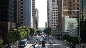 Στο κέντρο της πόλης κυκλοφορία στο Λος Άντζελες - χρονικό σφάλμα - - 4K απόθεμα βίντεο