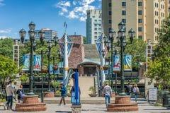Στο κέντρο της πόλης Μέρυλαντ το καλοκαίρι στοκ εικόνες
