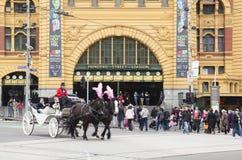 Στο κέντρο της πόλης Μελβούρνη Στοκ φωτογραφία με δικαίωμα ελεύθερης χρήσης