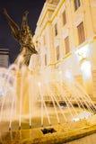 Στο κέντρο της πόλης νότος του Guayaquil Ισημερινός σκηνής νύχτας Στοκ Φωτογραφία