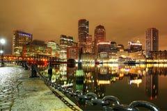 Στο κέντρο της πόλης ορίζοντας της Βοστώνης, Μασαχουσέτη, ΗΠΑ Στοκ φωτογραφία με δικαίωμα ελεύθερης χρήσης