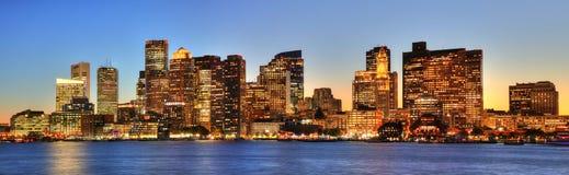Στο κέντρο της πόλης ορίζοντας της Βοστώνης, Μασαχουσέτη, ΗΠΑ Στοκ Εικόνα