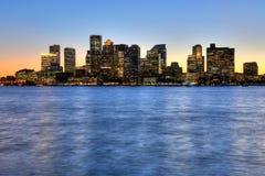 Στο κέντρο της πόλης ορίζοντας της Βοστώνης, Μασαχουσέτη, ΗΠΑ Στοκ Φωτογραφία