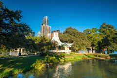 Στο κέντρο της πόλης ορίζοντας του Ώστιν, Τέξας στοκ εικόνες με δικαίωμα ελεύθερης χρήσης
