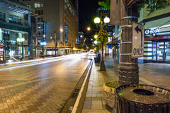 Στο κέντρο της πόλης οδός πεύκων του Σιάτλ Στοκ φωτογραφία με δικαίωμα ελεύθερης χρήσης