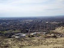 Στο κέντρο της πόλης πίσω κέντρο Boise Στοκ Φωτογραφία