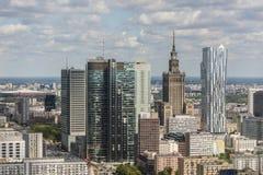 Στο κέντρο της πόλης πανόραμα πόλεων της Βαρσοβίας Στοκ Φωτογραφίες