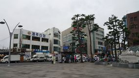 Στο κέντρο της πόλης περιοχή νησιών Jeju Στοκ Φωτογραφίες