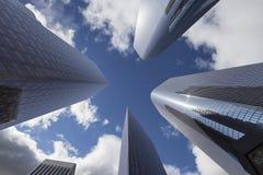 Στο κέντρο της πόλης πύργοι του Λος Άντζελες Στοκ Φωτογραφίες