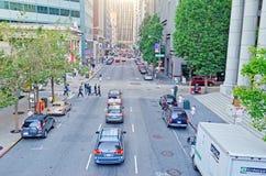 Στο κέντρο της πόλης Σαν Φρανσίσκο, ΗΠΑ Στοκ εικόνα με δικαίωμα ελεύθερης χρήσης