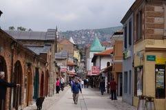 Στο κέντρο της πόλης Σαράγεβο Βοσνία Στοκ Εικόνες