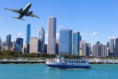 Στο κέντρο της πόλης Σικάγο στοκ εικόνα