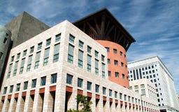 Στο κέντρο της πόλης σύγχρονα κτήρια στο Ντένβερ, Κολοράντο Στοκ εικόνα με δικαίωμα ελεύθερης χρήσης