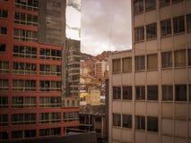 Στο κέντρο της πόλης φωτογραφία της Βολιβίας Λα Παζ της ιστορικής πρωτεύουσας στοκ εικόνα