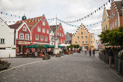 Στο κέντρο της πόλης Abensberg Στοκ Εικόνα