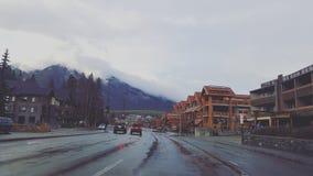 Στο κέντρο της πόλης Banff Στοκ Εικόνες