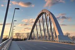 Στο κέντρο της πόλης Columbus, γέφυρα κεντρικών δρόμων Στοκ Εικόνες