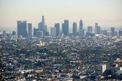 στο κέντρο της πόλης Los ορίζοντας της Angeles Στοκ Φωτογραφία