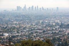 στο κέντρο της πόλης Los ορίζοντας της Angeles Στοκ Φωτογραφίες