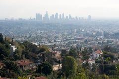 στο κέντρο της πόλης Los ορίζοντας της Angeles Στοκ Εικόνες