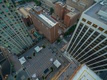 Στο κέντρο της πόλης Raleigh τον Ιούνιο στοκ φωτογραφία με δικαίωμα ελεύθερης χρήσης