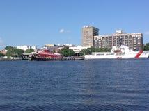 Στο κέντρο της πόλης Wilmington από τον ποταμό Στοκ φωτογραφία με δικαίωμα ελεύθερης χρήσης