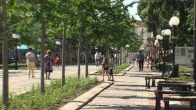 Στο κεντρικό δρόμο Pomorie στη Βουλγαρία απόθεμα βίντεο