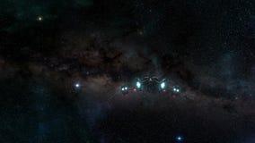 Στο κενό διαστημόπλοιο ελεύθερη απεικόνιση δικαιώματος