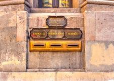 Στο κτήριο Telegrafos Στοκ Εικόνα