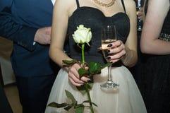 Στο κόμμα prom Στοκ Εικόνες