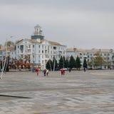 Στο κύριο τετράγωνο Kramatorsk στοκ εικόνες με δικαίωμα ελεύθερης χρήσης