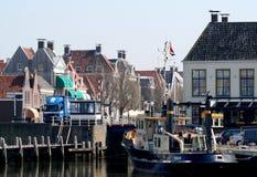 Στο λιμάνι του citty Harlingen Στοκ εικόνες με δικαίωμα ελεύθερης χρήσης