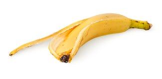 Στο μπροστινό δέρμα μπανανών στοκ φωτογραφία