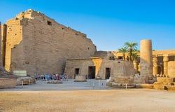 Στο ναό Karnak Στοκ εικόνες με δικαίωμα ελεύθερης χρήσης