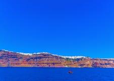 Στο νησί Santorini στην Ελλάδα στοκ φωτογραφία με δικαίωμα ελεύθερης χρήσης